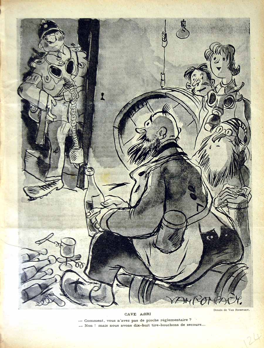 [Print Le Rire French Humor Magazine War Soldier Drinking 124E350 Old Original]