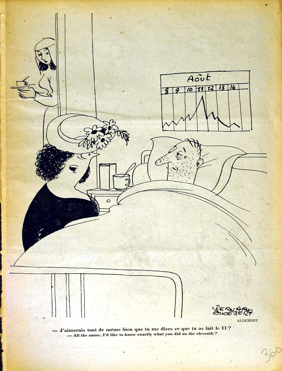 [Print Le Rire (The Laugh) French Humor Magazine Hospital Bed 366E350 Old Original]