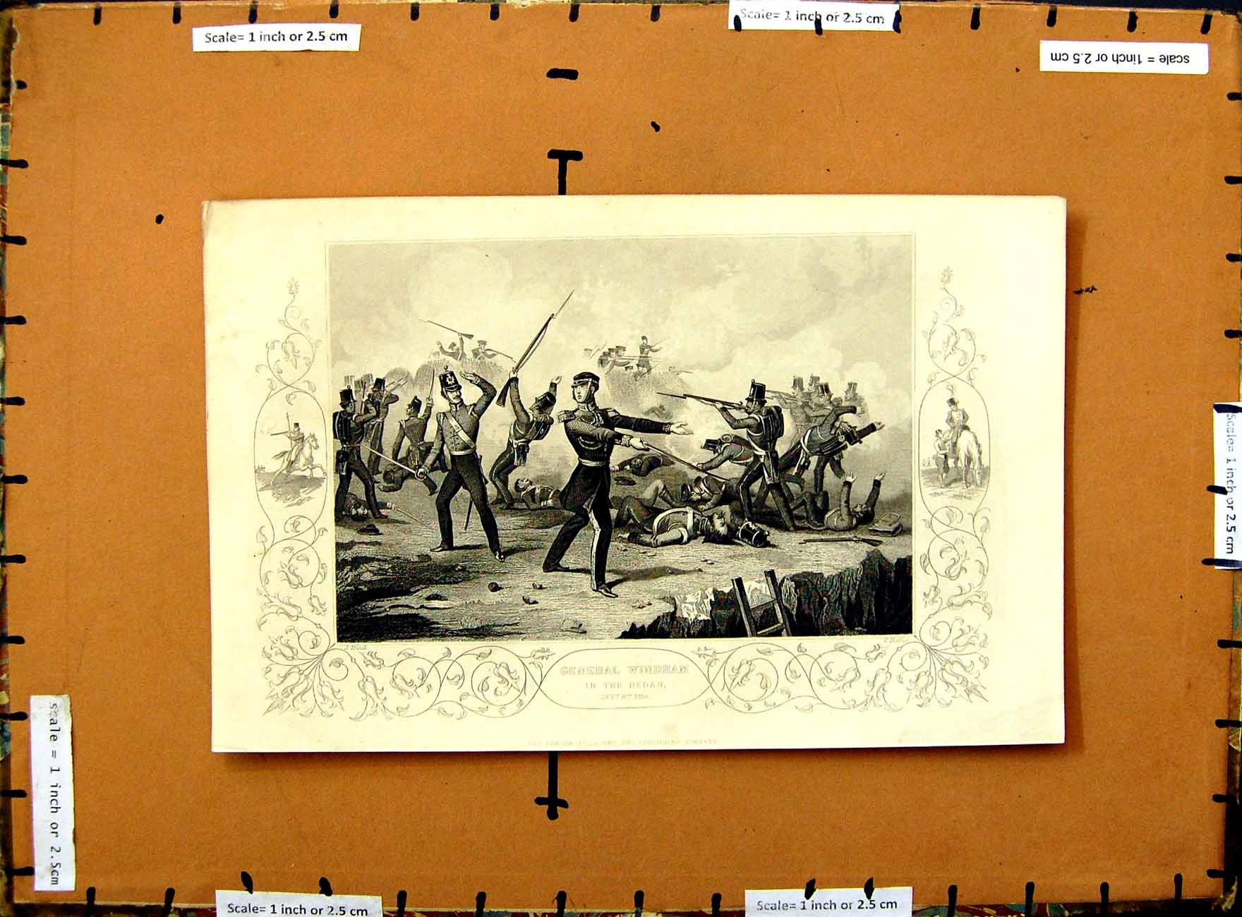 [Print 1855 Scene Battle General Windham Redan Soldiers War 326E375 Old Original]