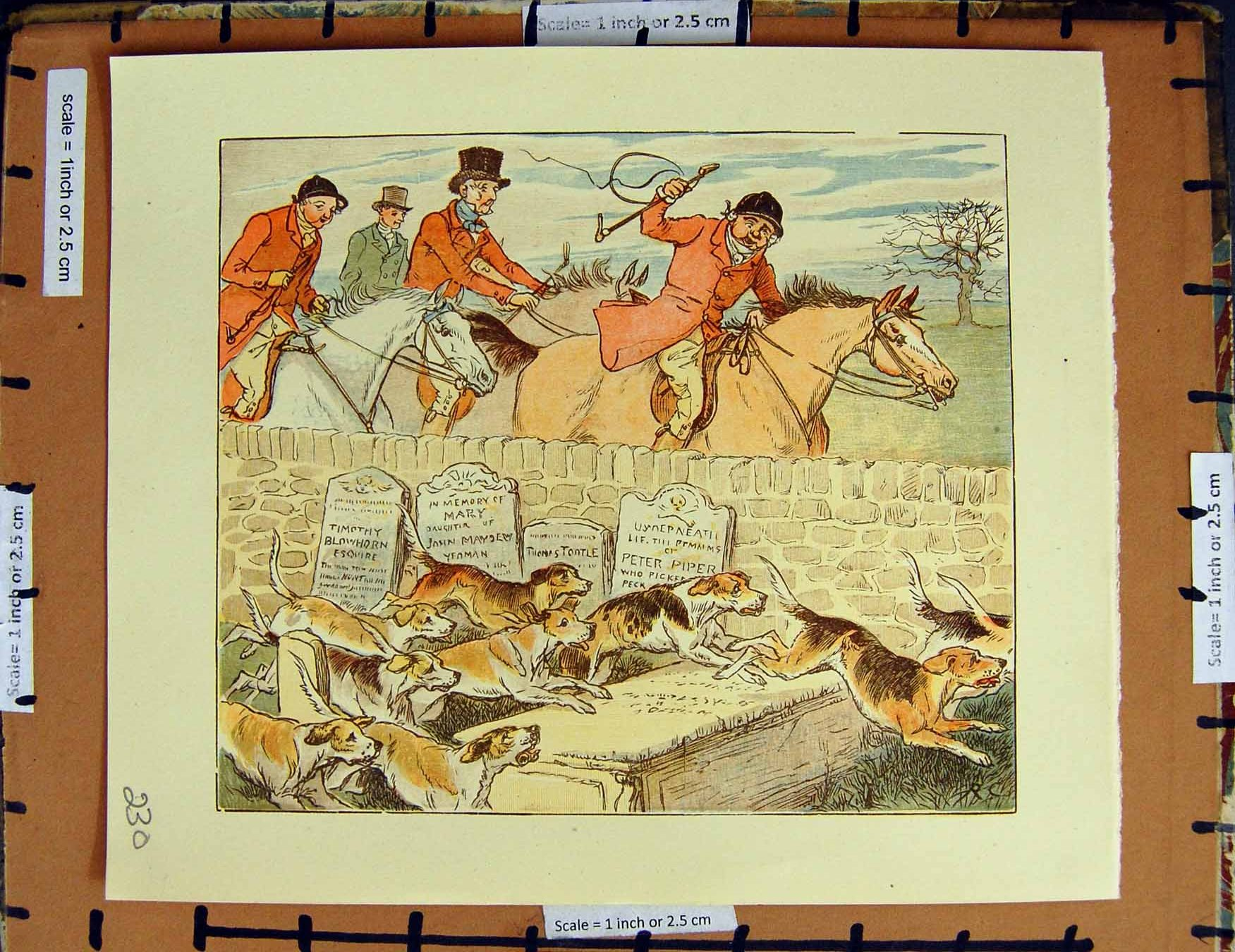 [Print C1950 Nursery Rhyme Hunting Men Horse Dogs Hounds 230E378 Old Original]