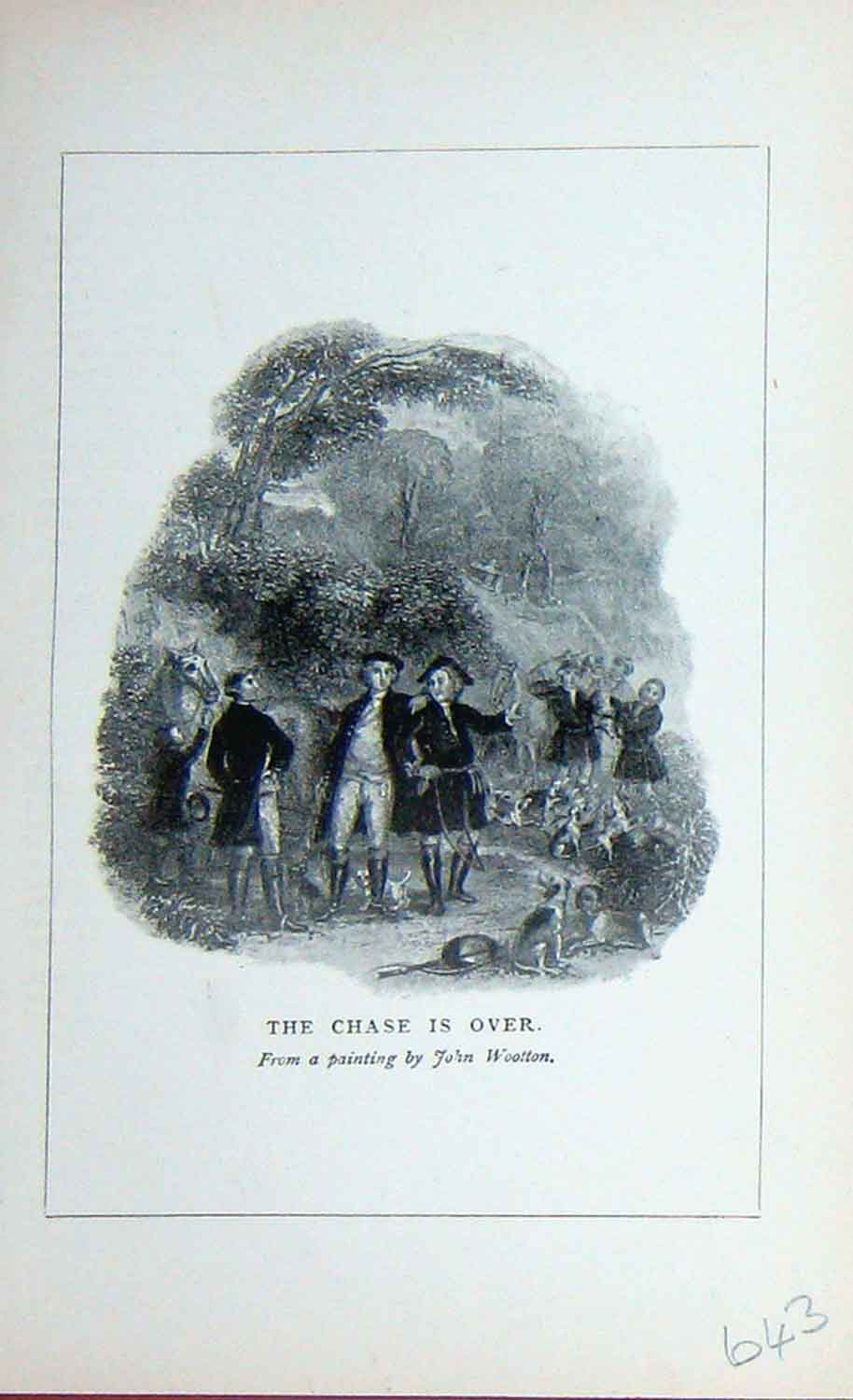 [Print 1895 Baily'S Magazine Men Hunting Sport Hounds Dog 643F110 Old Original]
