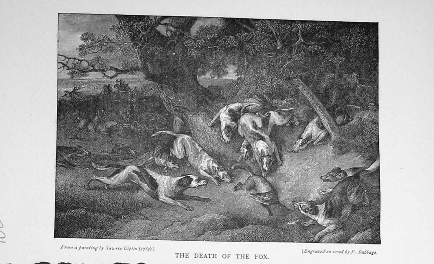 [Print Fox Hunting Sport Hounds Dogs Baily'S Magazine 1897 781F111 Old Original]