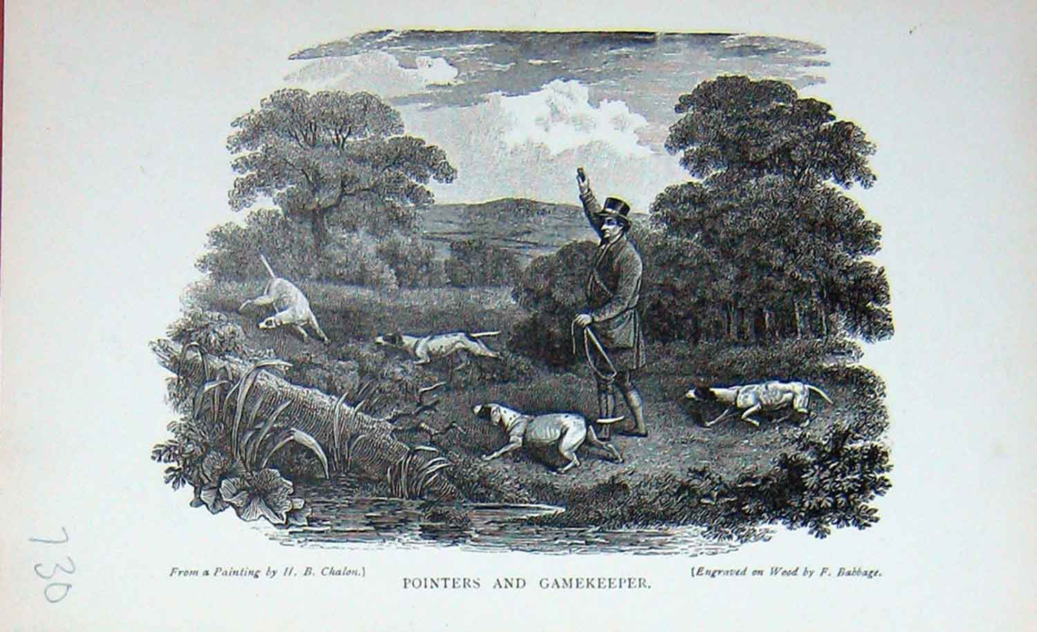 [Print Baily'S Magazine 1896 Pointers Dogs Gamekeeper Hunting 730F112 Old Original]