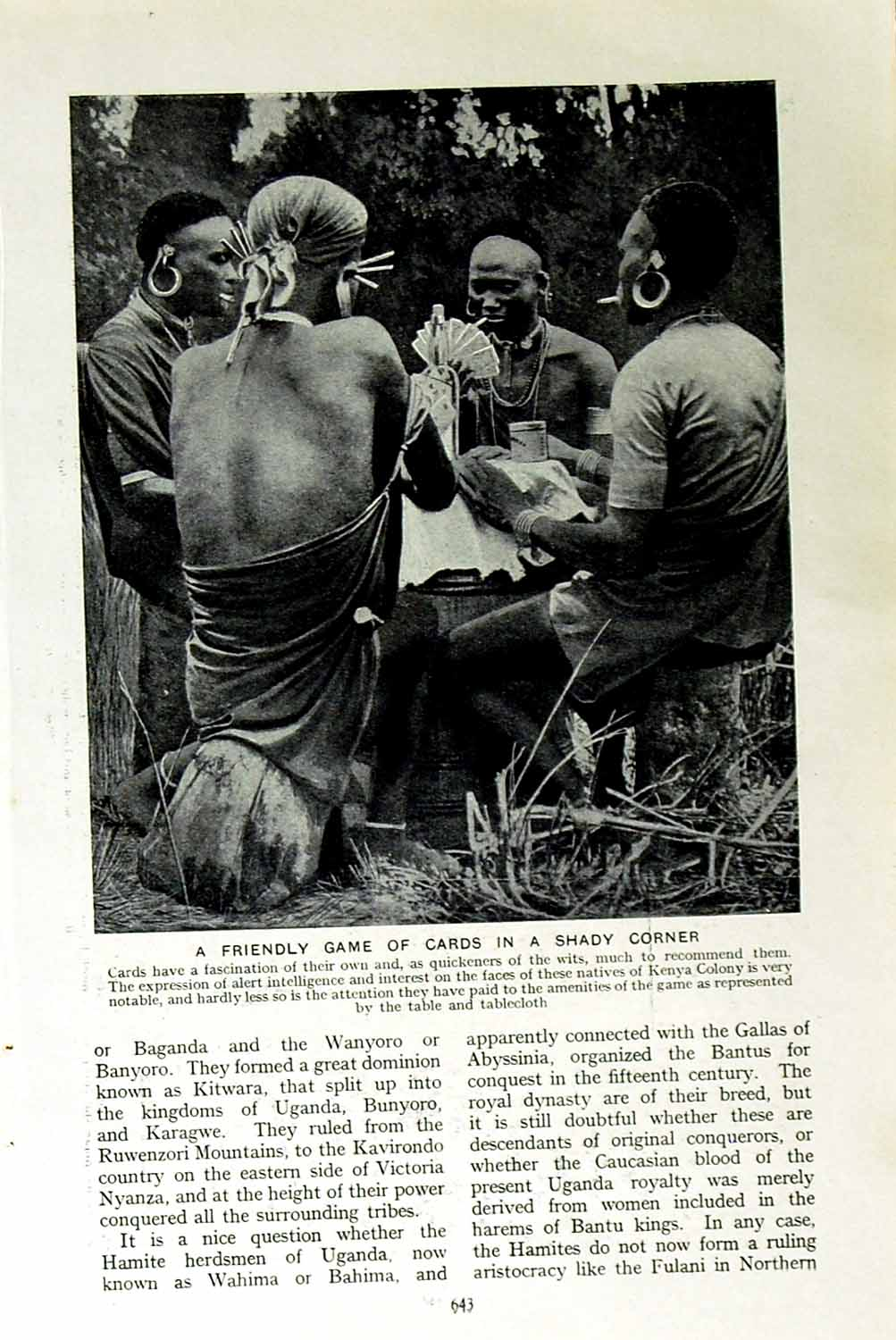 [Print C1920 Natives Kenya Africa Masai Warriors Panoply Arms 643F151 Old Original]