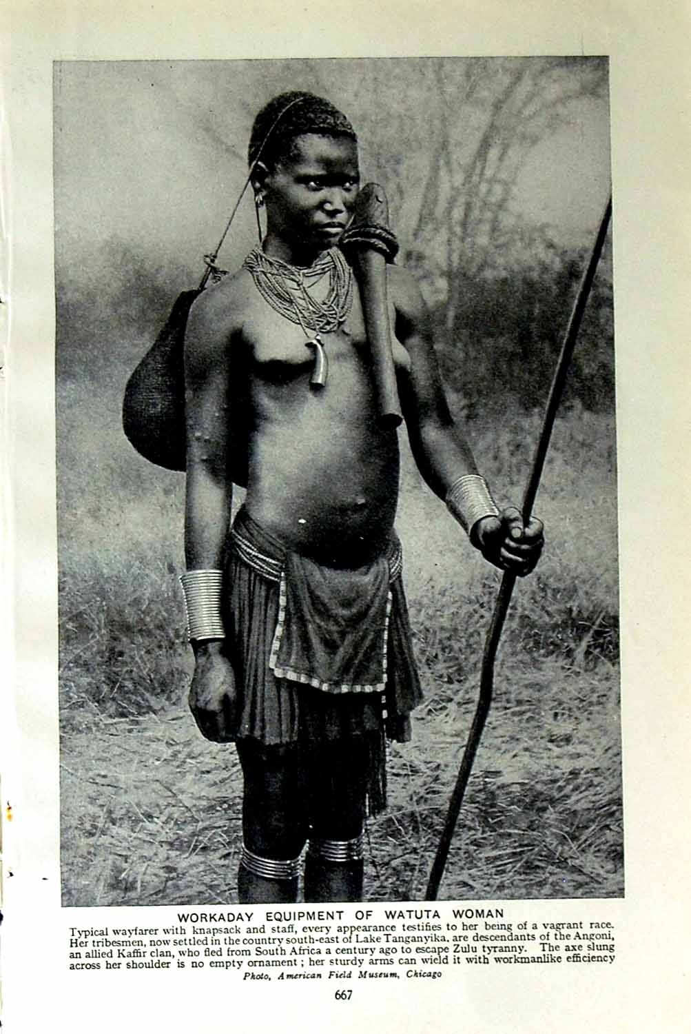 [Print C1920 Watuta Woman Africa Missionaries Nuns Catholic 667F151 Old Original]