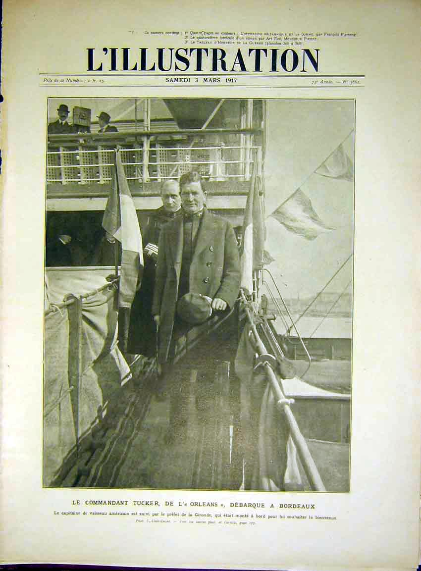 Print Tucker Orleans Ship Bordeaux Gironde French 1917 74Lil0 Old Original