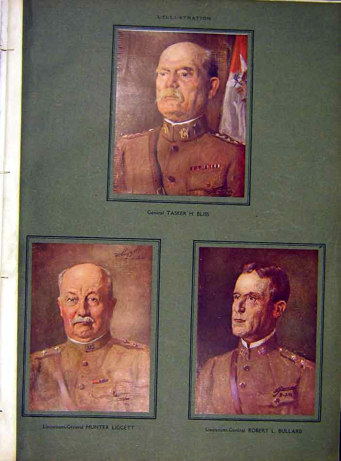 Print Portraits Bliss Liggett Bullard Military 1919 00Lil0 Old Original