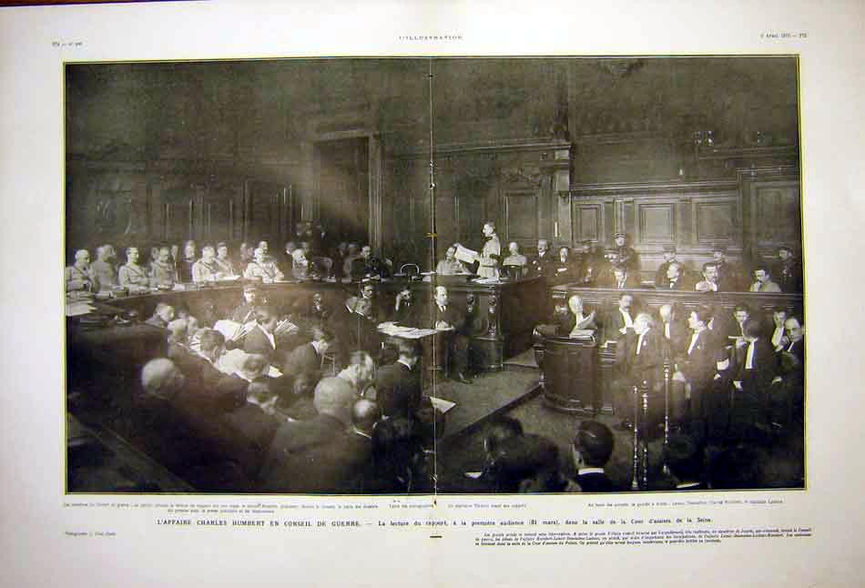 Print Humbert Council War Court Assises Seine Paris 1919 73Tlil0 Old Original