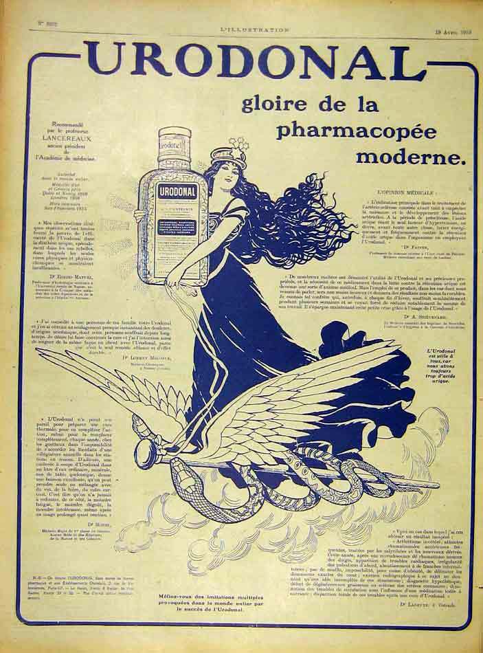 Print Urononal Advert Lady Medicine Modern French 1919 20Lil0 Old Original