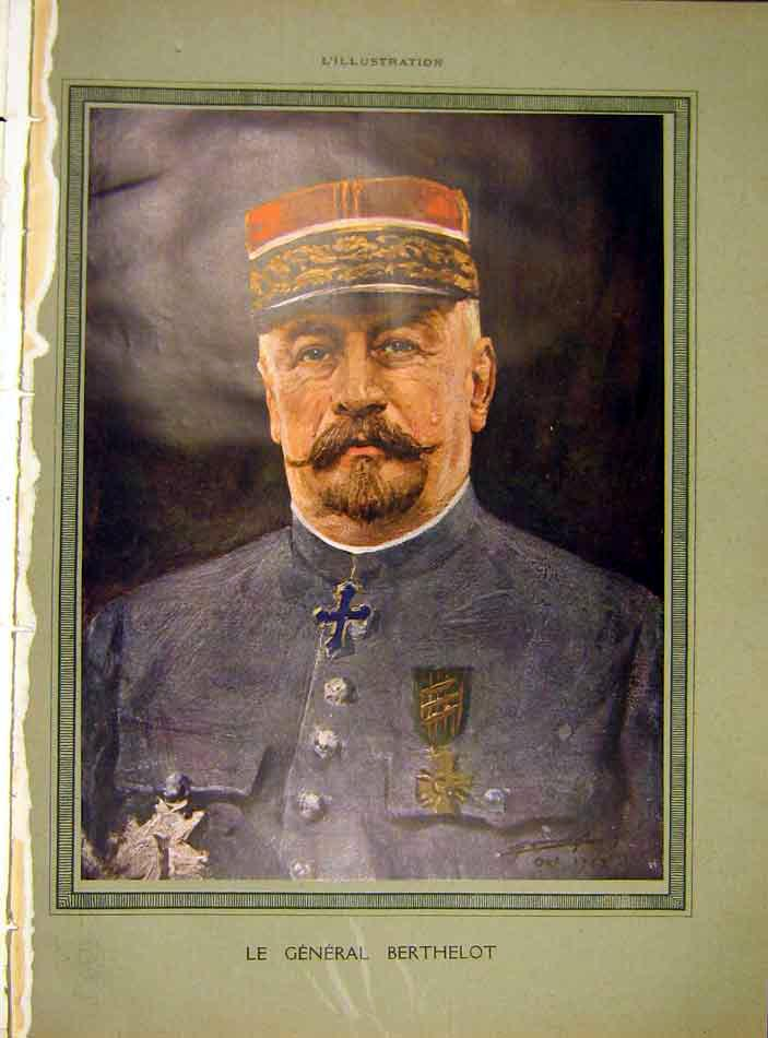 Print Portrait General Berthelot Military French 1919 40Lil0 Old Original