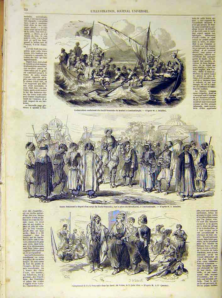 Print Scutari Constantinople Varna French 1854 52Lil1 Old Original