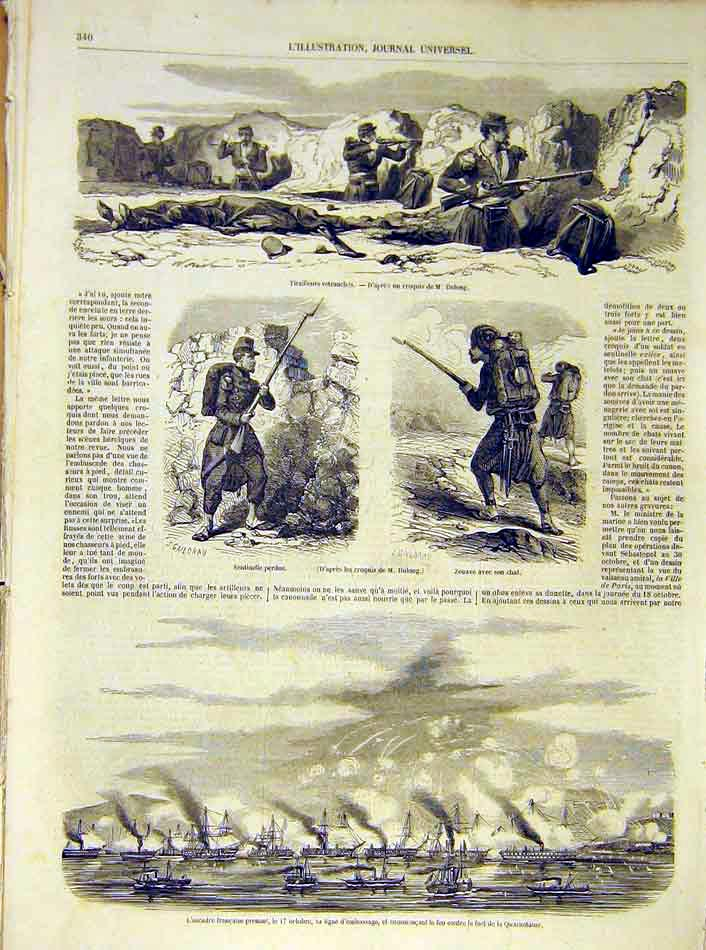 Print Dulong Quarantaine Battle Soldiers Trench 1854 40Lil1 Old Original