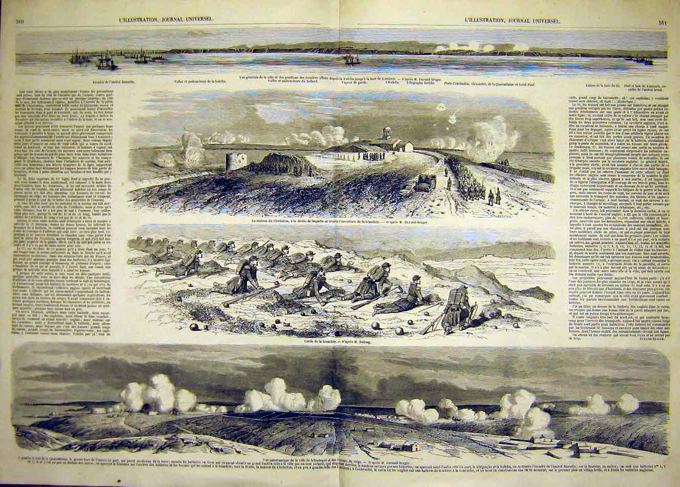 Print Kamiesh Hamelin Sebastopol Siege War Battle 1854 59Tlil1 Old Original