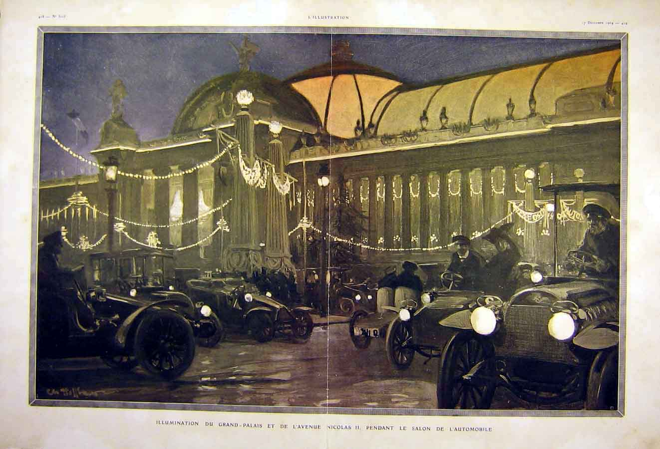 Print Grand-Palace Automobile Motor-Car French 1904 30Tlil1 Old Original