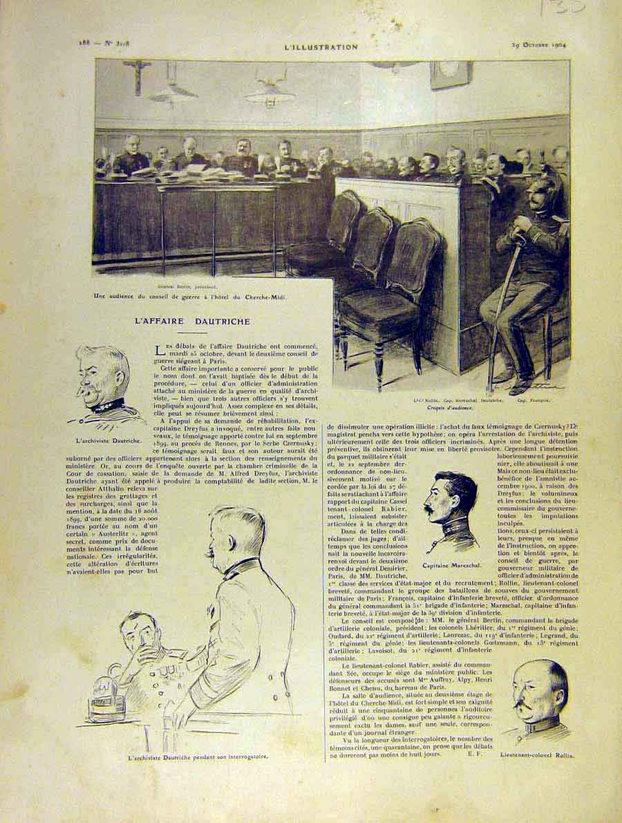 Print Trial Court Dautriche Mareschal French 1904 35Lil1 Old Original