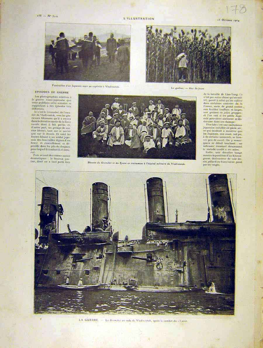 Print War Gromoboi Vladivostok Japanese French 1904 78Lil1 Old Original