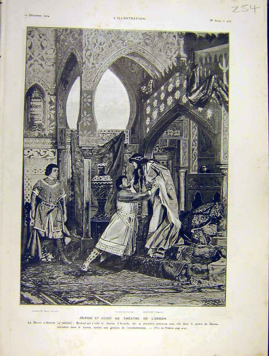 Print Theatre Odeon Armide Dorival Scene French 1904 54Lil1 Old Original