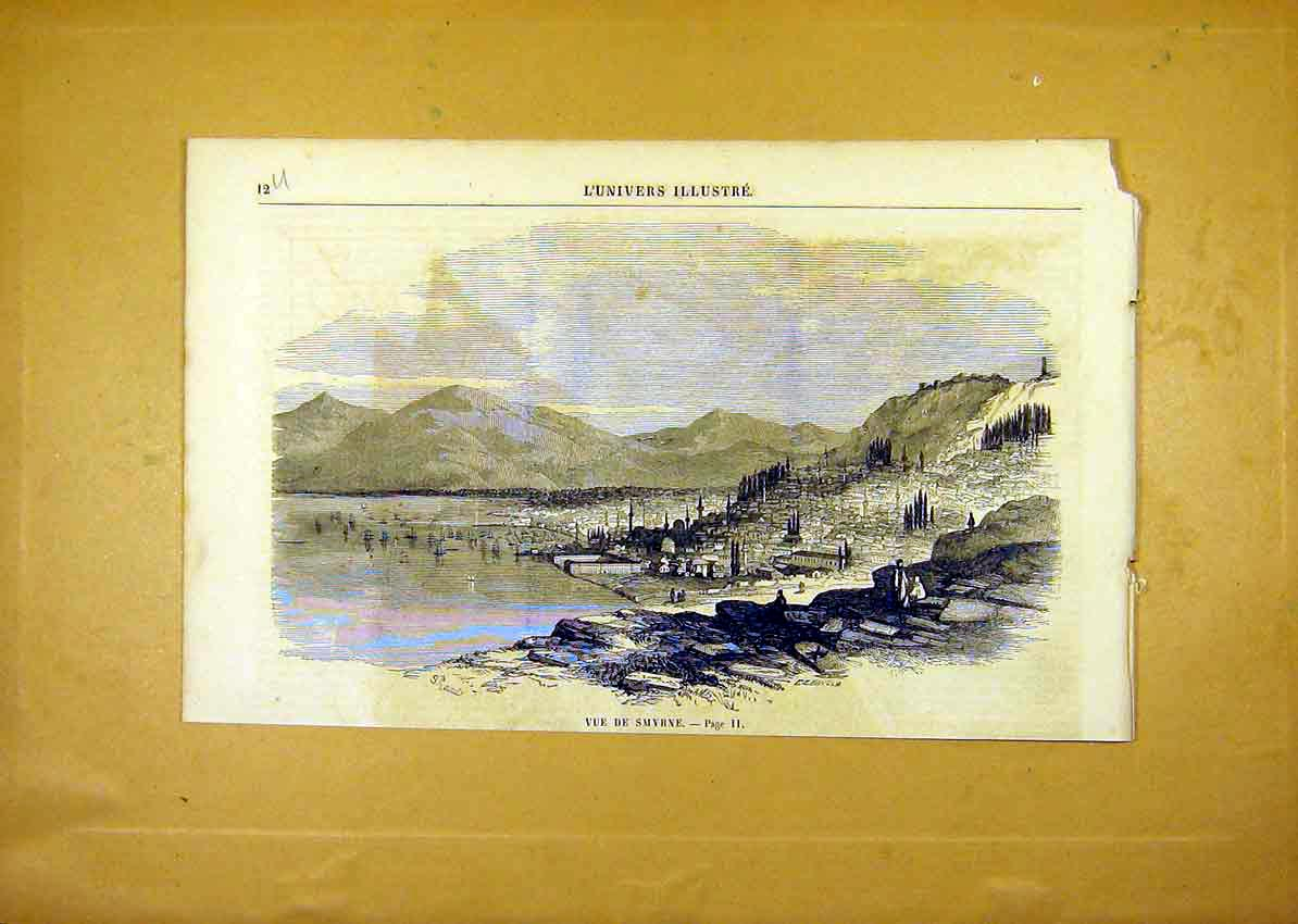 Print View Smyrnia Village City French 1859 12Ulun0 Old Original