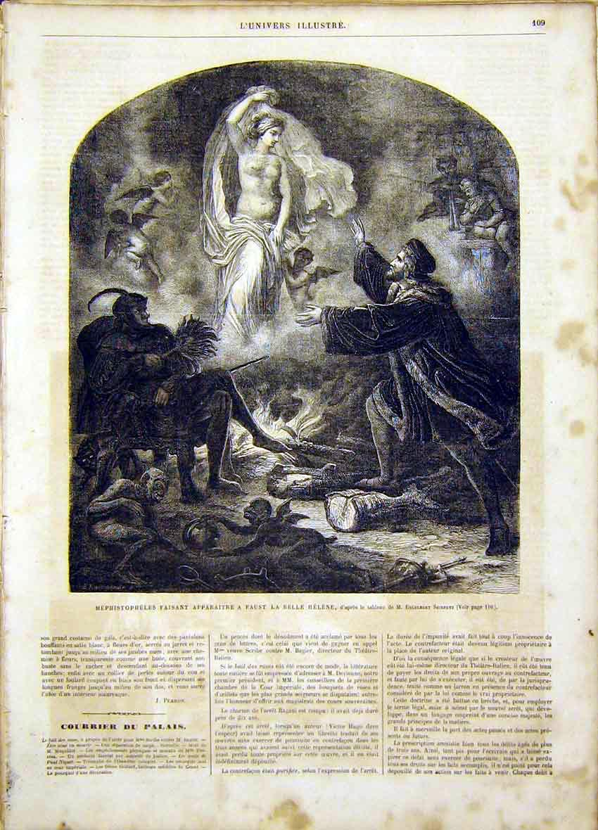 Print Helen Seibertz French 1865 Fine Art 09Lun0 Old Original