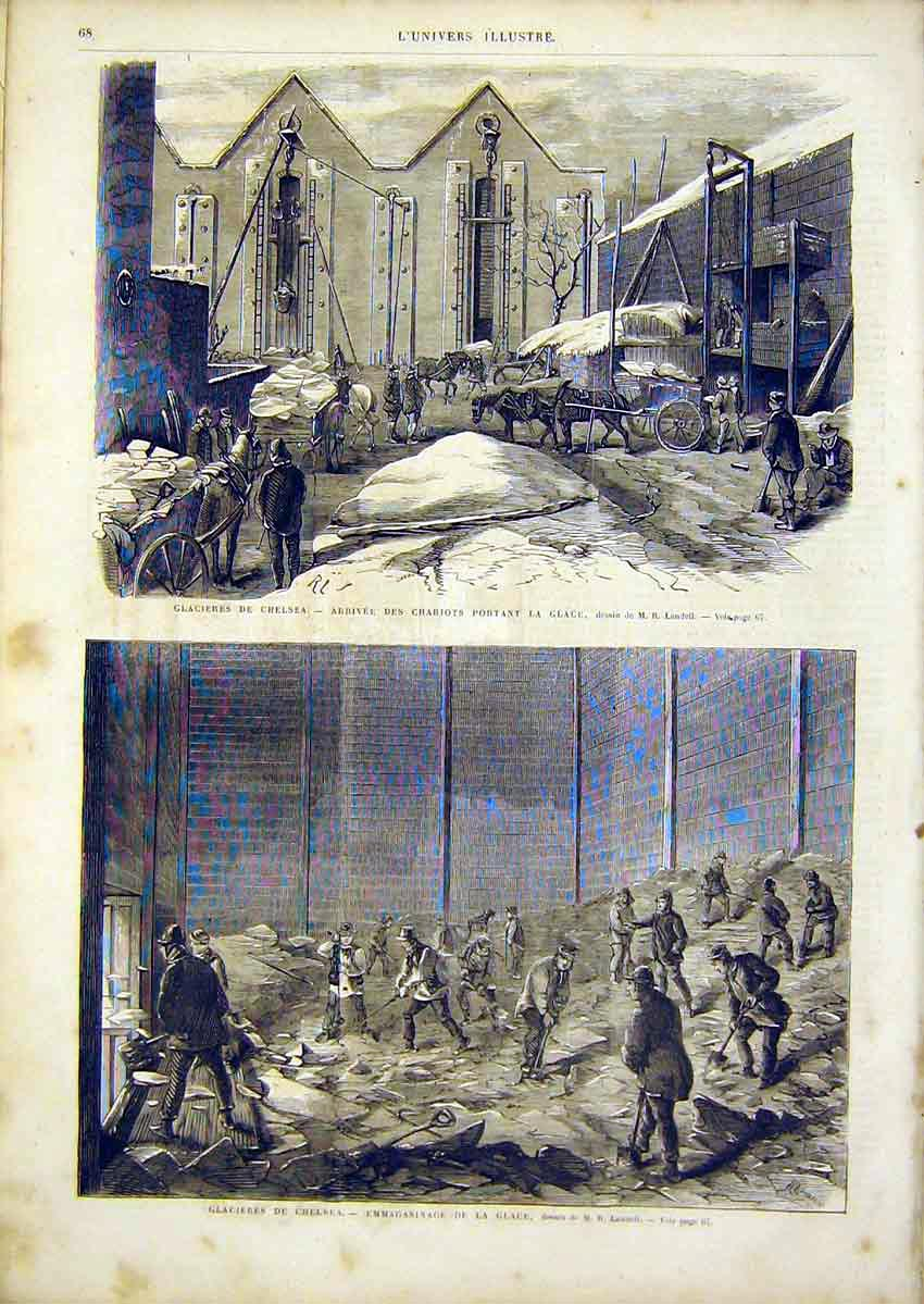 Print Chelsea Ice Factory Landell French 1866 68Lun0 Old Original