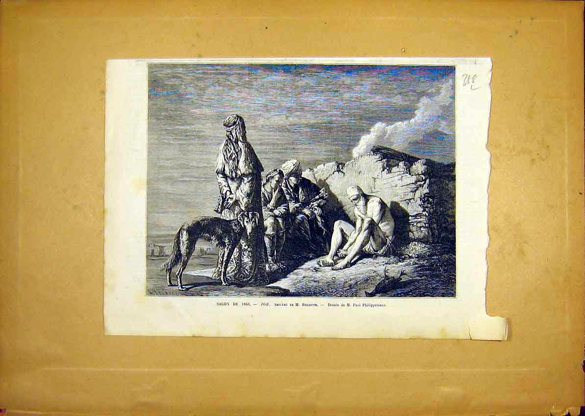 Print Fine Art Heilbuth Job Religious French 1868 88Llun0 Old Original