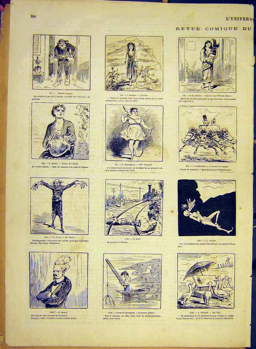 Print Holiday Draner Comic Review Sketches Portrait 1881 60Alun0 Old Original