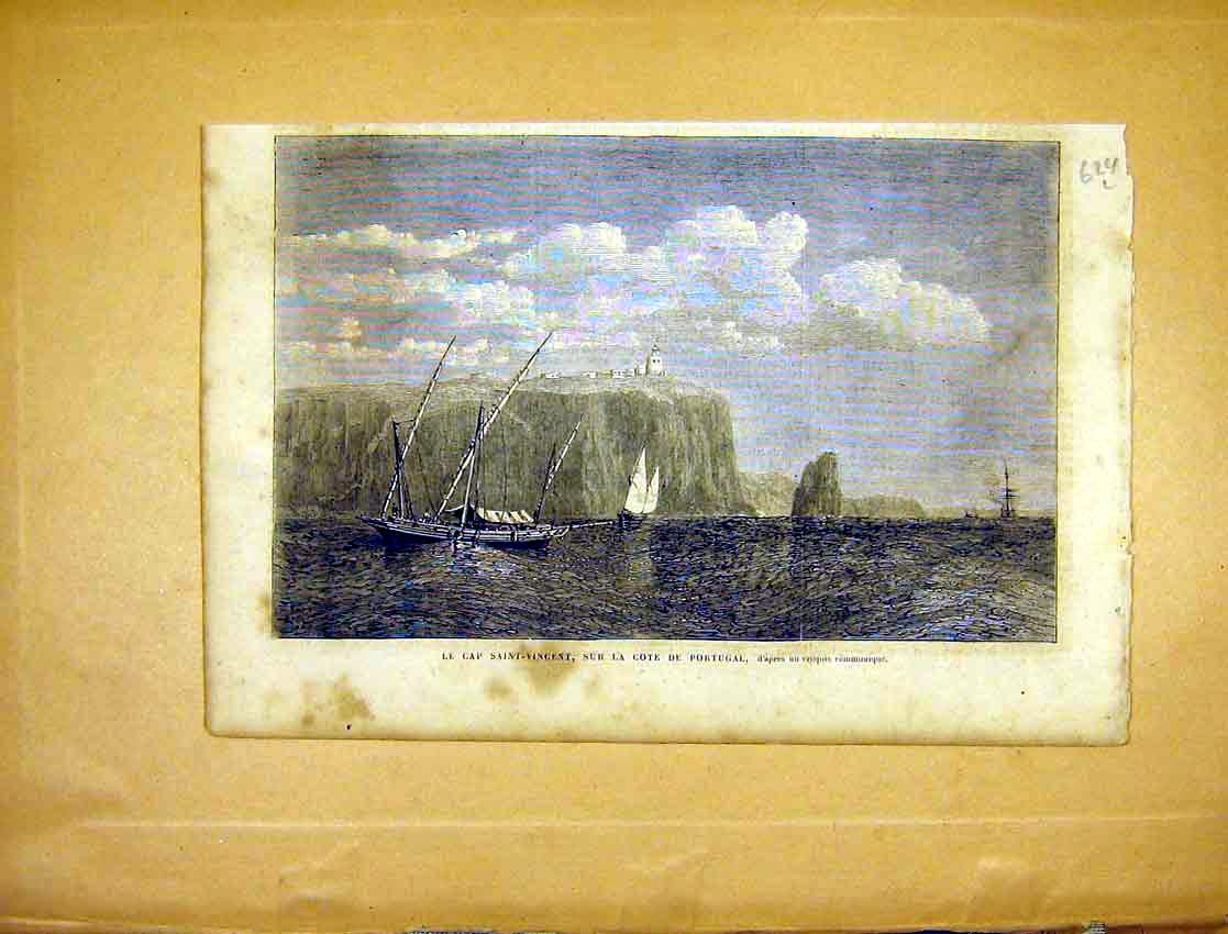 Print Saint-Vincent Portugal Coast French 1865 24Llun1 Old Original