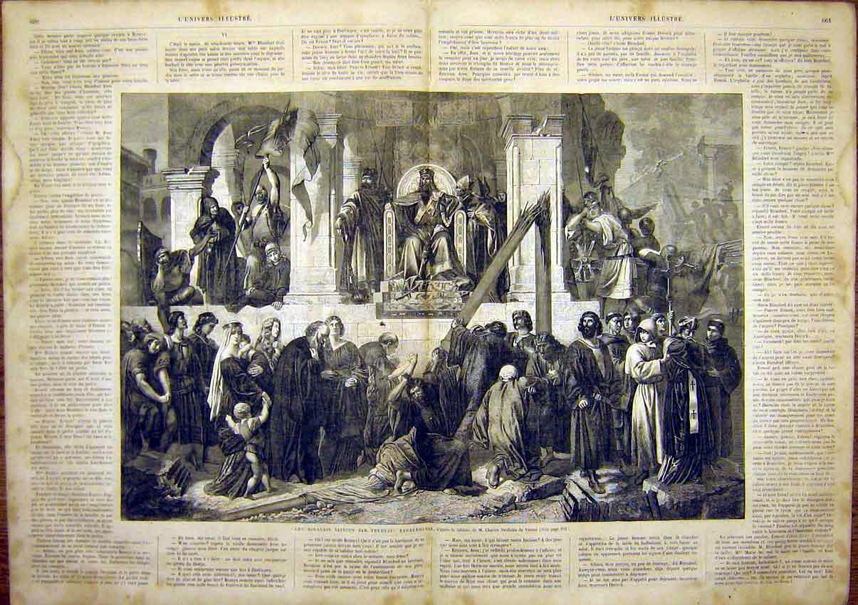 Print Swoboda Fine Art Frederic Barbaric Historic 1865 59Tlun1 Old Original