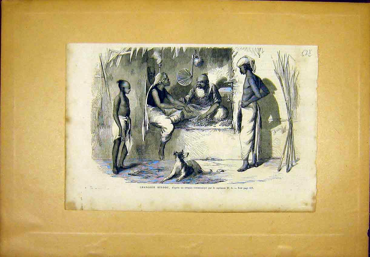 Print Hindu Religious Native French 1866 28Llun1 Old Original