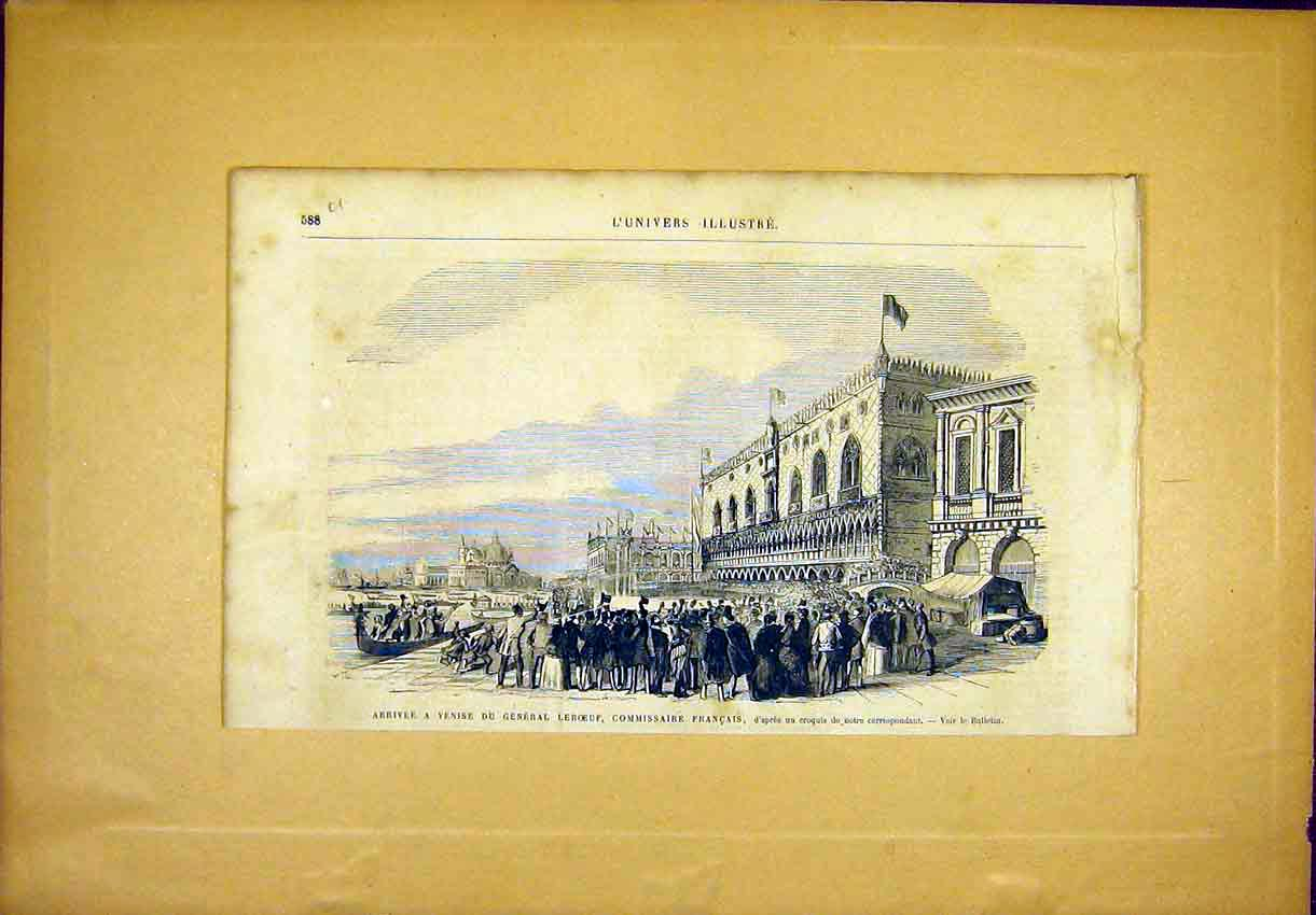 Print Venice Leboeuff Commissioner French 1866 88Ulun1 Old Original