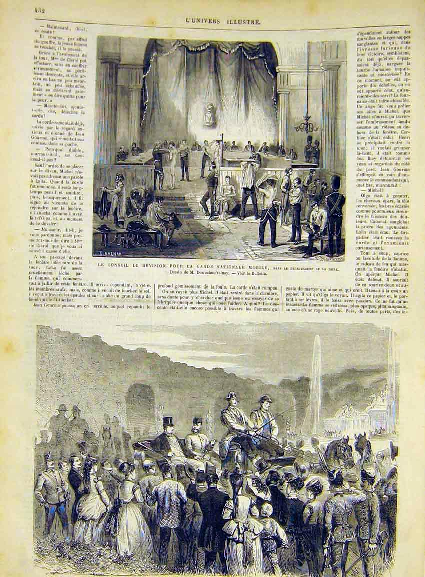 Print National Guard Troops Schoenbrunn Napoleon 1868 32Lun1 Old Original