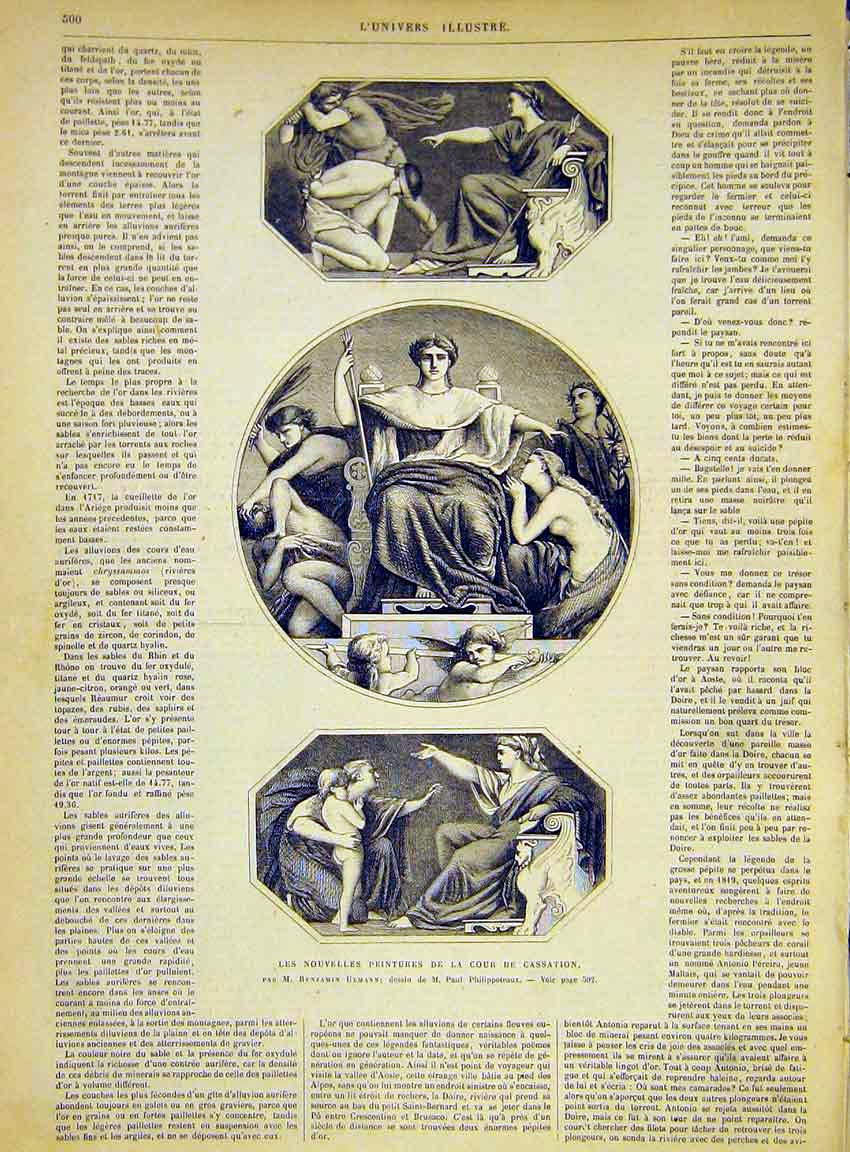 Print Paintings Cassation Ulmann French 1868 00Lun1 Old Original