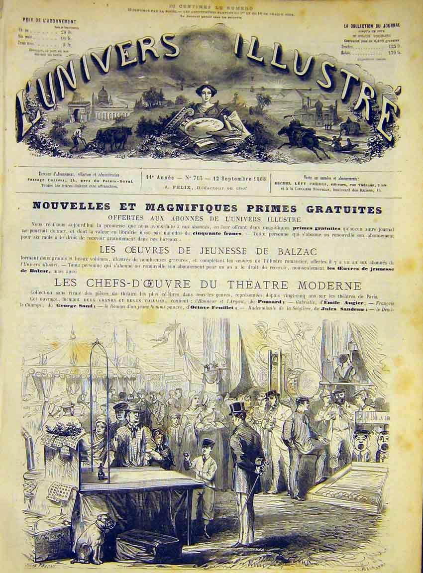 Print Prince Imperial Fete Fountainbleau French 1868 70Lun1 Old Original