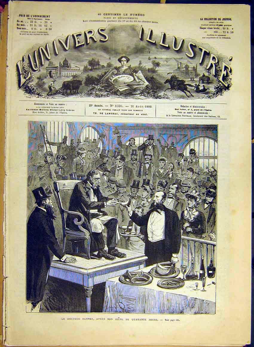 Print Doctor Tanner Party Birthday French 1880 30Lun1 Old Original