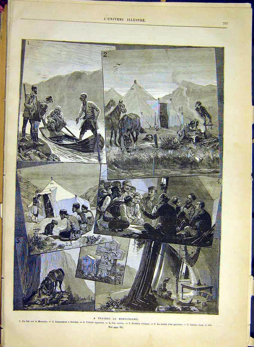 Print Montenegro Travels Moracha People French 1880 57Lun1 Old Original