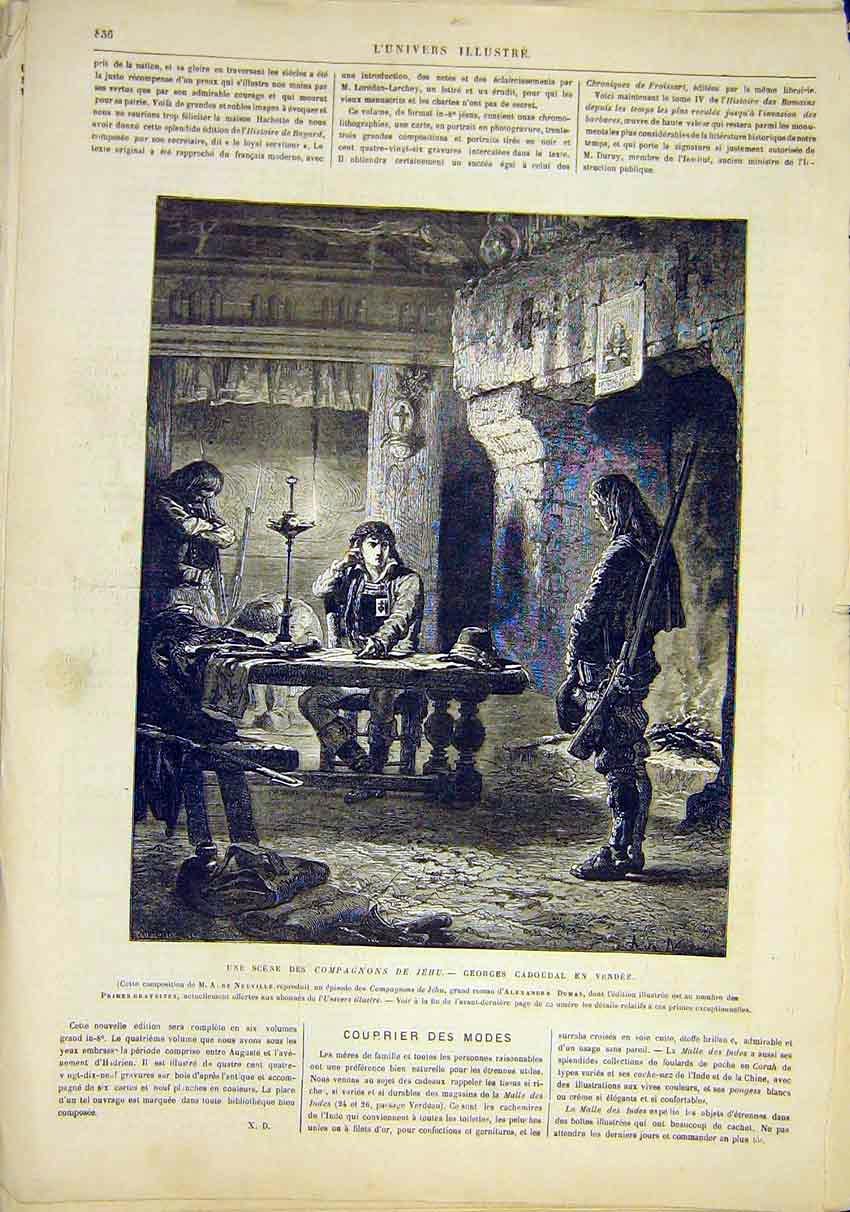 Print Cadoudal Companions Jehu French 1881 Fine Art 36Lun1 Old Original
