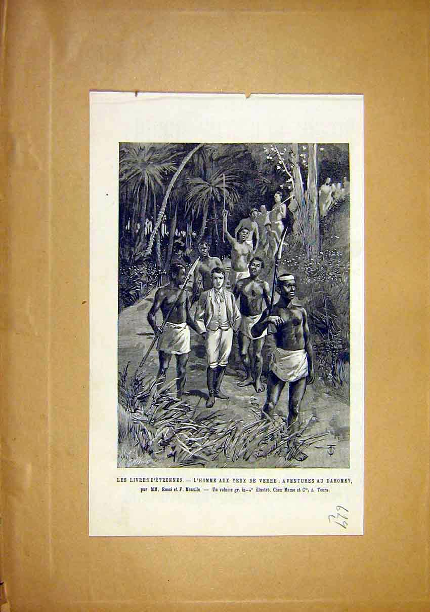 Print Dahomey Native D'Etrennes Meaulle French 1891 29Llun1 Old Original