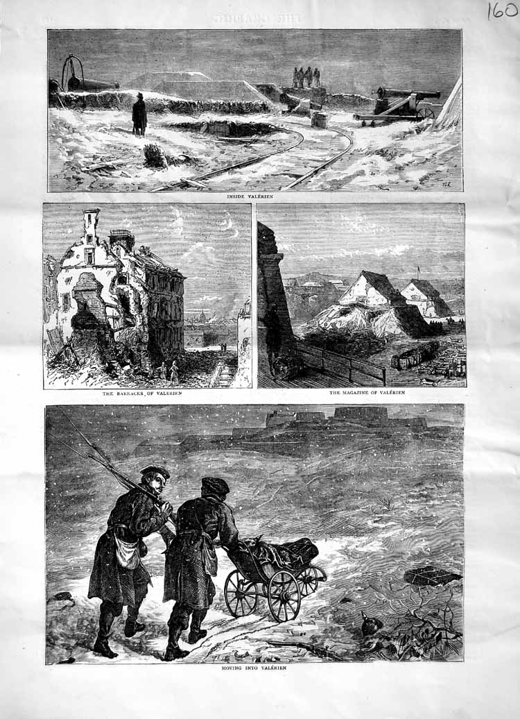 [Print 1871 Barracks Valerien Magazine Soldiers 160M103 Old Original]