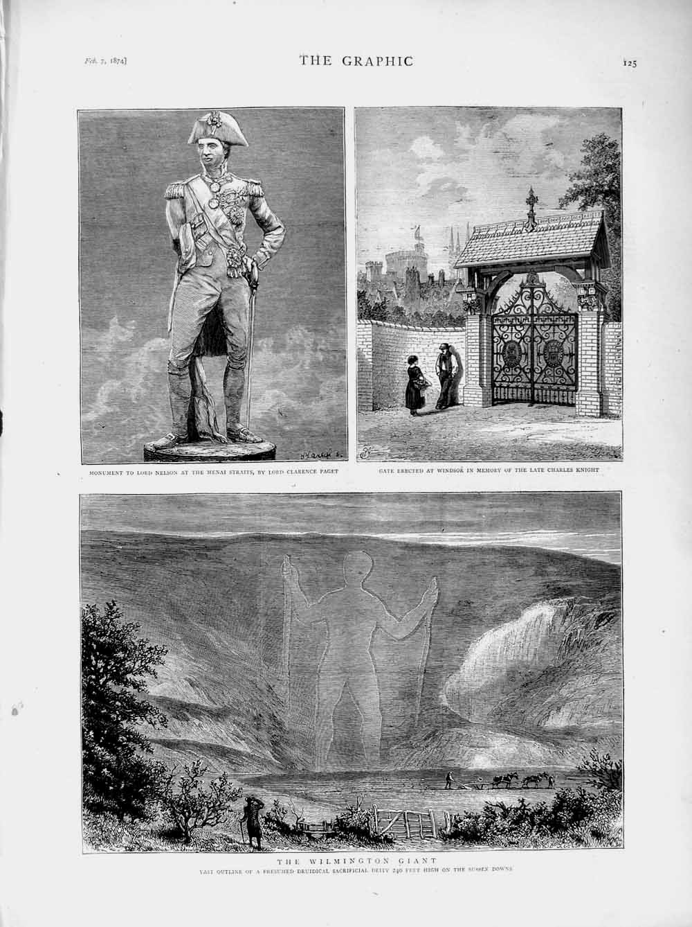 [Print 1874 Wilmington Giant Druidical Sussex Nelson Knight 125M109 Old Original]