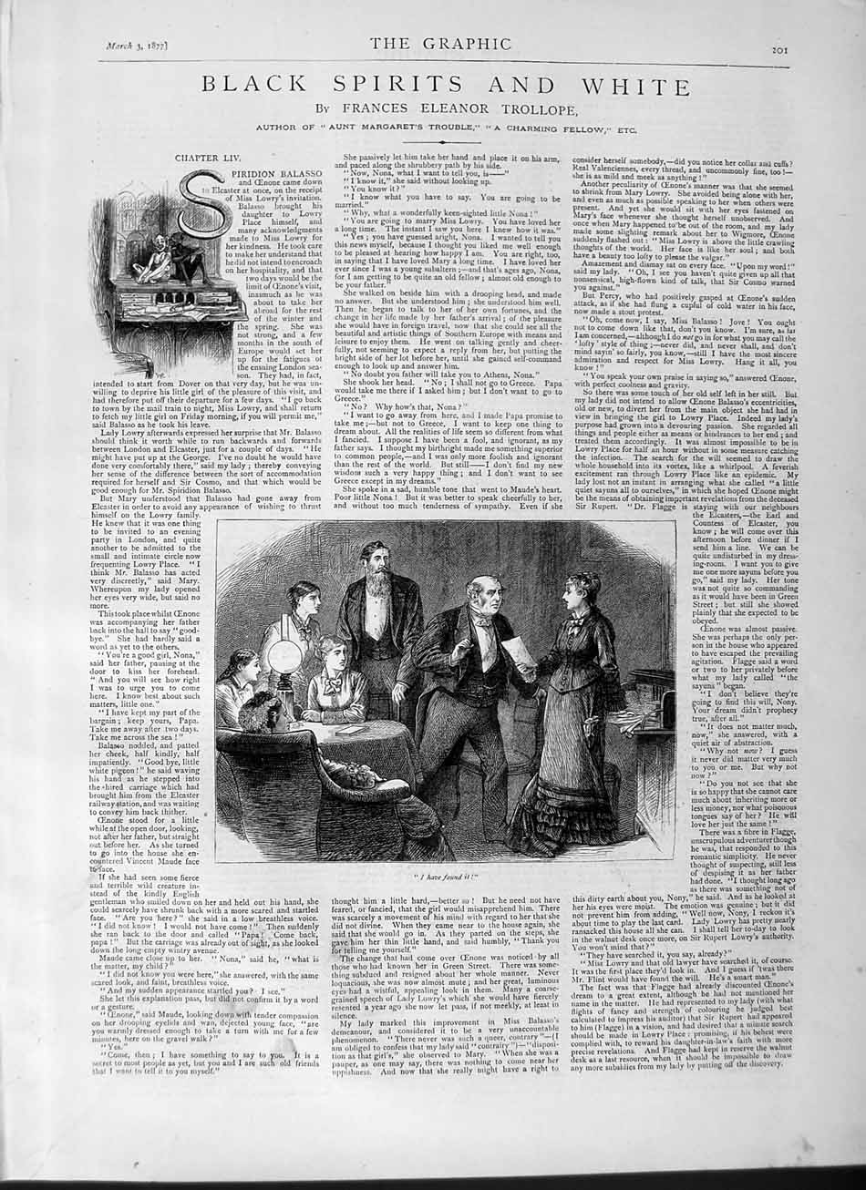 [Print 1877 Story Black Spirits White Ladies Men 201M115 Old Original]