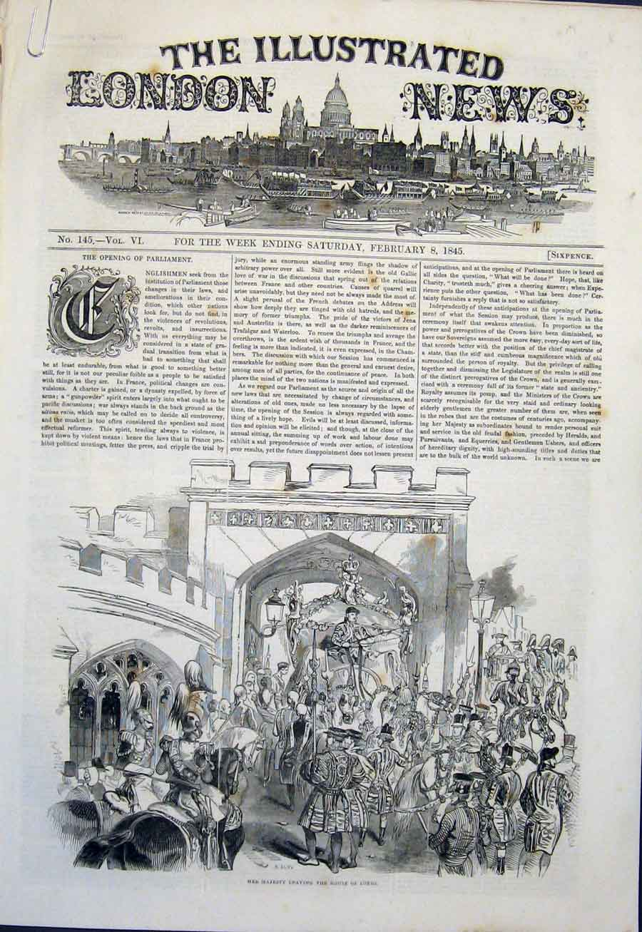 Print House Lords Majesty Queen Sheriff'S Roll Exchequer 1845 84Amaa0 Old Original