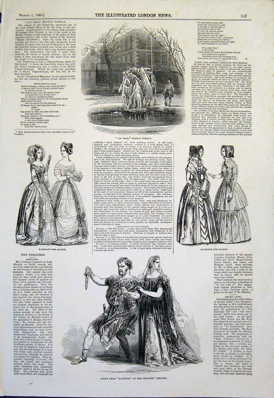 Print Ice Tree Temple Fashion Fashions Princess Theatre 41Maa0 Old Original