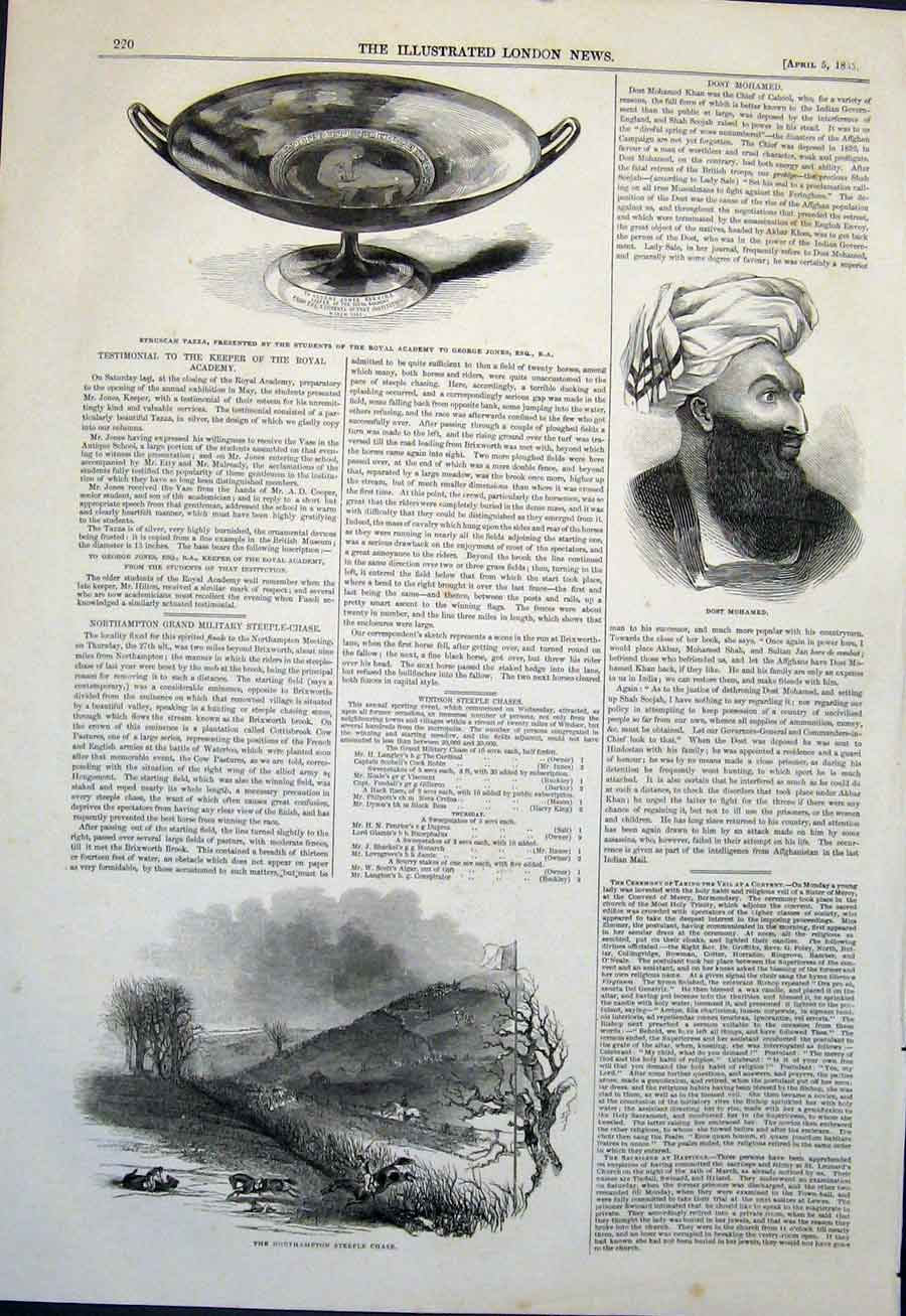 Print Etruscan Tazza Jones Northampton Steeple Dost Mohamed 20Maa0 Old Original