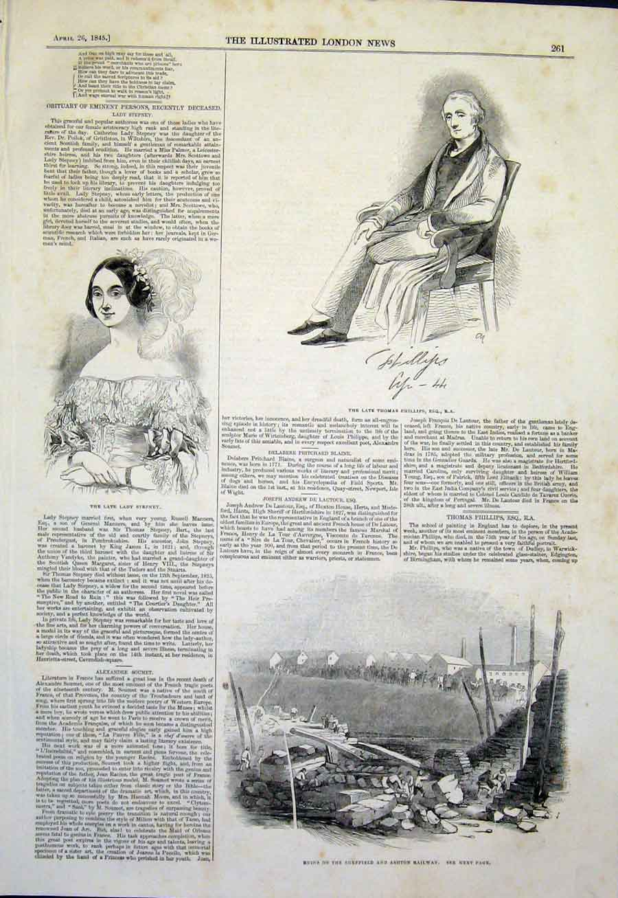 Print Portrait Lyndhurst Paris Lateran Church Building 1859 Old Original