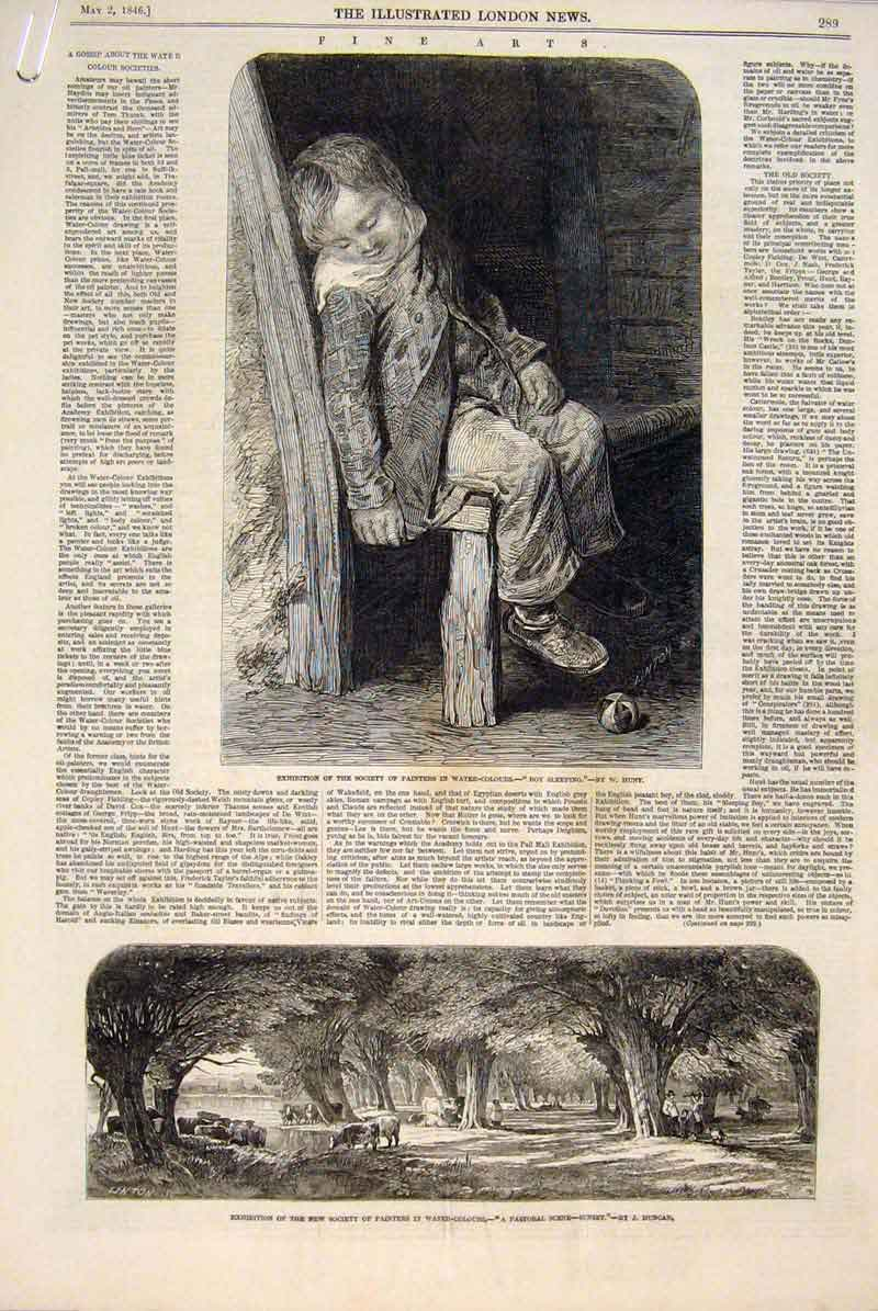 Print Fine Art 1846 Hunt Duncan Oliver Absolon Royal Society 89Amaa0 Old Original