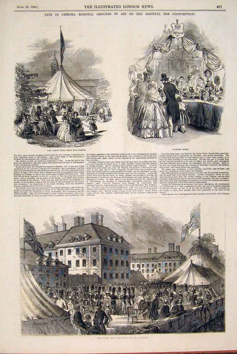 [Print Fete Chelsea Hospital Consumption Tent 1846 01Maa0 Old Original]