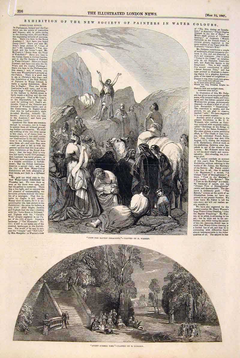 Print Society British Artists Painters Fine Art 1847 16Amaa0 Old Original