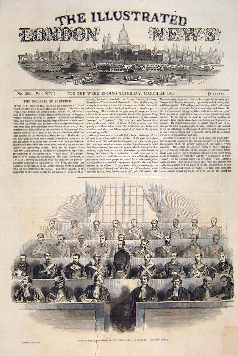 Print Trial Bourges Conspirators Berry France Hotel 1849 86Maa0 Old Original