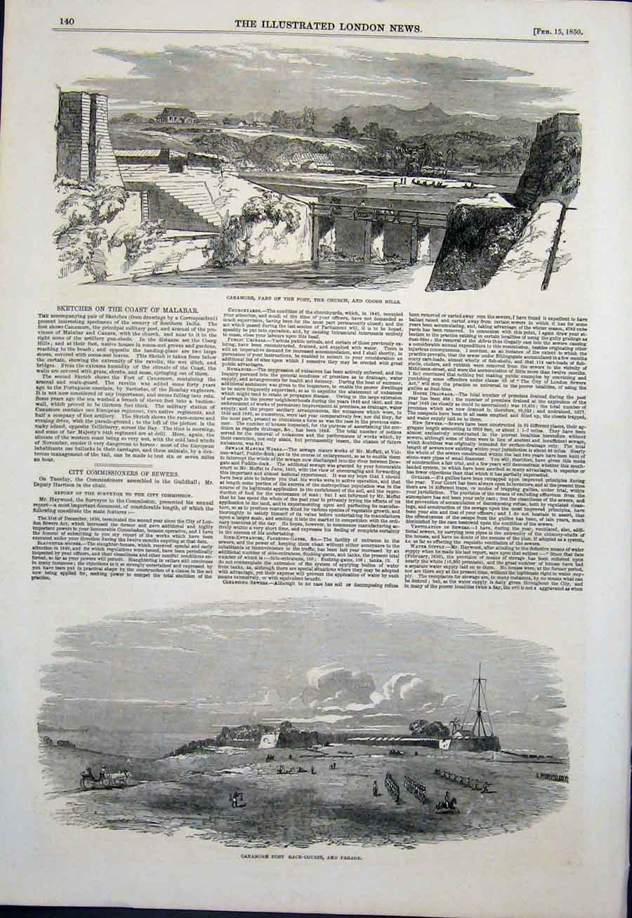 Print Cowper Exhibition Building London Girders Central Isle 09Maa0 Old Original