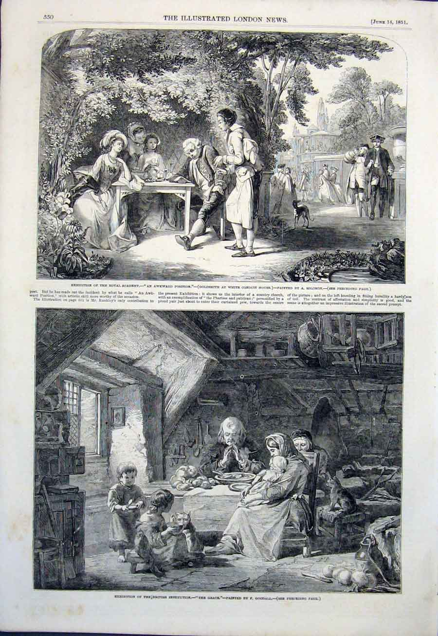 Print Fine Art 1851 Solomon Goodall Rankley Wouvermans 50Amaa0 Old Original